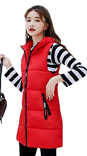 素晴らしさ誇張するメトリックtopmodelss ダウンジャケット レディース 秋 冬 ベスト 厚手 綿 ノースリーブ ロングベスト ダウン ベスト スリム シンプル ファッションベスト フードをつき 韓版 無地 防風 防寒