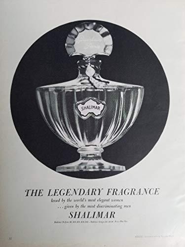 - GUERLAIN Shalimar Legendary Fragrance Bottle Vintage Perfume Bottle 1959 Ad