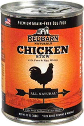 Redbarn 12 Can Case Of Natural Grain-Free Chicken Recipe Stew For Dogs, 13 Ounces Each