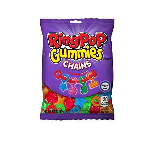 Ring Pop Gummies Chains Candy - Peg Bag, 5 Ounce -- 12 per case.