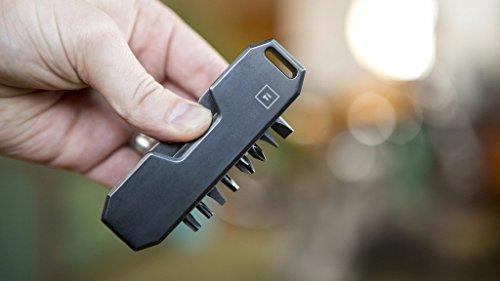 BIG IDEA DESIGN Bit Bar : The Pocket Friendly EDC Screwdriver - Grade 5 Titanium (Black)