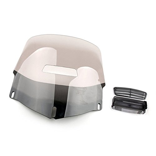 Motorcycle Windscreen Windshield + Air Vented For Honda Goldwing GL1800 2001-2015 (Smoke)