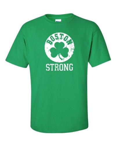 Jacted Up Tees Boston Strong Shamrock Men's Tee Shirt SHIPS FROM OHIO USA