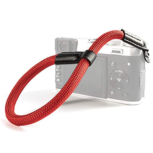 VKO Camera Wrist Strap, Hand Strap Compatible for Sony A6000 A6300 A6500 E-M10III E-M10II X100F X-T20 X-T2 X100S G9X G7X Mark II Camera Climbing Rope Red