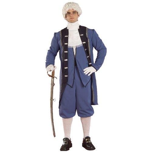 Forum Novelties Colonial Costume George Washington Town Crier Adult Std Blue Jacket Coat - Costume Crier Town
