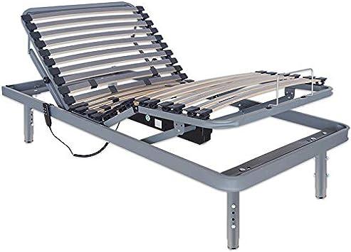 Ventadecolchones - Cama Articulada Super Reforzada Adaptator con Motor eléctrico y Patas Regulables en Altura y Mando inalámbrico Medida 90 x 190 cm