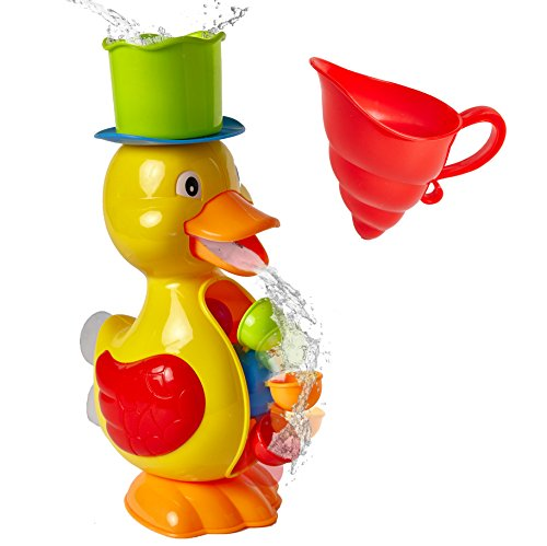 Little Pal Baby Bath Toy Duck Water Wheel - Bath Time & Beach Fun for Toddlers and Kids. (Duck)