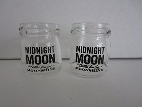 Set of 4 Junior Johnsons Midnight Moon Moonshine Mini Mason Jar Shot ()