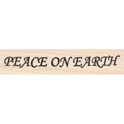 Peace on Earth Rubber Stamp Beeswax Rubber Stamps