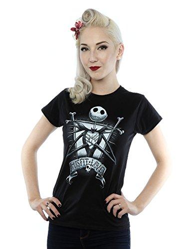 Relaxed Love Crew T-shirt (Disney Women's Nightmare Before Christmas Jack Skellington Misfit Love T-Shirt Medium Black)