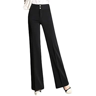 Women Pants High Waist Wide Leg Dress Suits Plus Size Palazzo Pants
