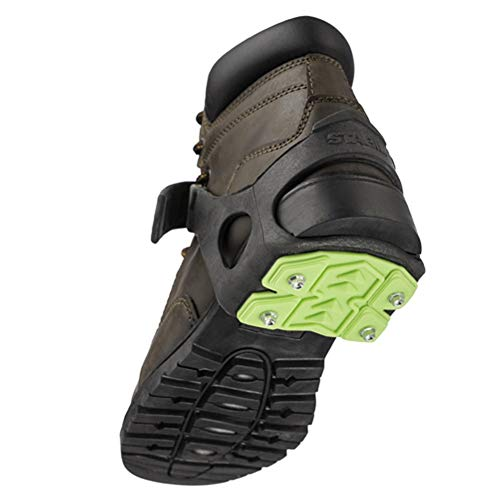 STABILicers STABIL HEEL Traction Ice Steel Heel Cleat for Ice and Snow, 1 pair,Black/Green,One Size
