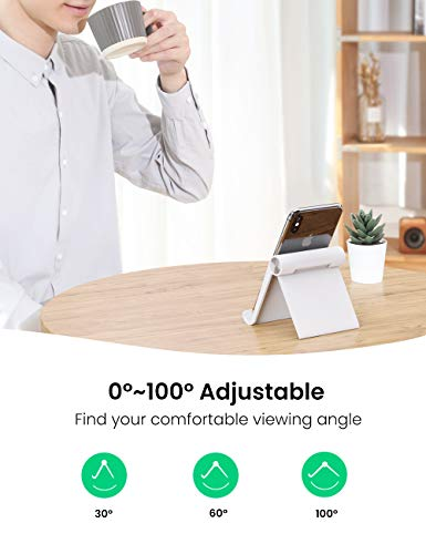 UGREEN Tablet Stand Holder Adjustable Compatible for iPad 10.2 2019, iPad Pro 11 Inch 2020, iPad 9.7 2018, iPad Mini 5 4 3 2, iPad Air, Nintendo Switch, iPhone 11 Pro Max SE XS XR X 8 Plus 7 6 (Black)