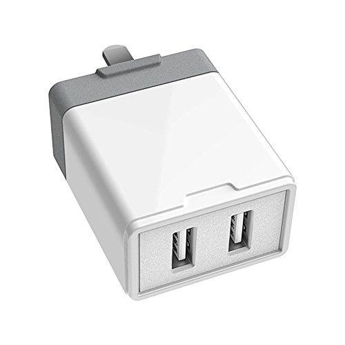 Ocamo Cargador Adaptador de Corriente de la Pared,Cargar Rápida con 2 USB para tabletas y Teléfono Inteligente,5V 2.4A