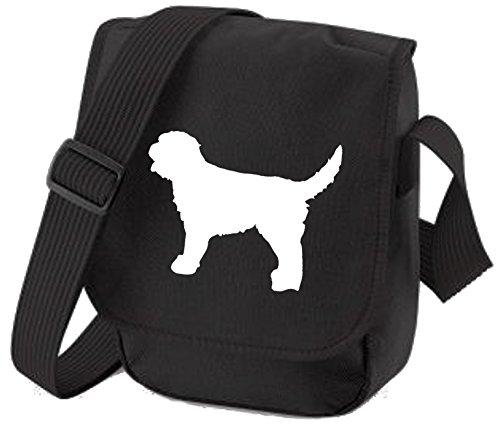 Labradoodle Bag Reporter Bag Shoulder Bag Labradoodle Silhouette Labradoodle Gift Choice of Colours White Dog Black Bag