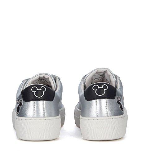 EN Plata of Mickey Piel Sneaker Plata Master Mouse Moa Arts Moa fwxAq10w
