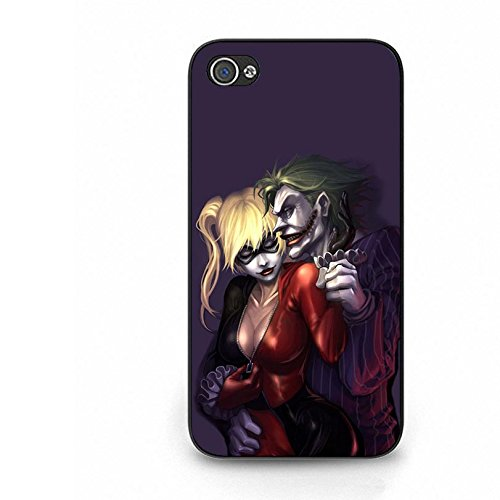 Fashionable Romantic Harley Quinn And Joker Phone Case Anti-Proof Phone Cover for Iphone 4 4s