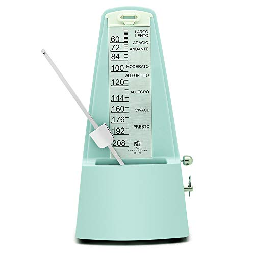 - ZhangSheng D610 Mechanical Metronome for Loud Sound Piano Drum Violin Guitar Bass, Track Tempo and Beat (Light green)