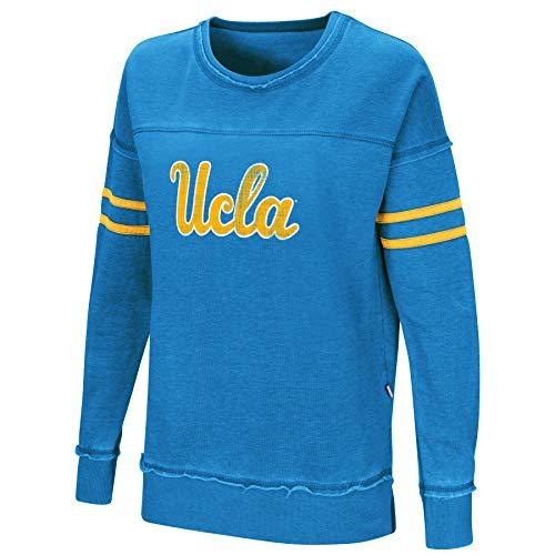 Colosseum Women's NCAA-Home Game- Fleece Retro Vintage Pullover Sweatshirt-UCLA Bruins-UCLA Blue-Medium