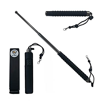 SABER 26-Inch Expandable Stick | Walking and Hiking Steel Security Stick For Self Protection | Completely Retractable & Perfect For Storage In A Car Or Truck As An Emergency Glass Window Breaker