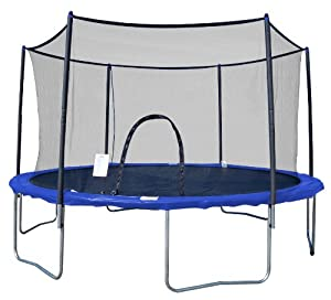 AirZone Outdoor Spring Trampoline with Mesh Padded Perimeter Safety Enclosure (Multiple Sizes)