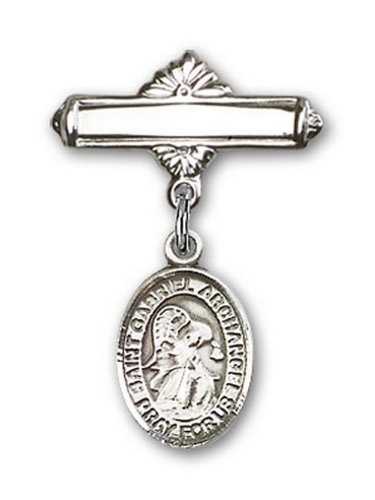 Icecarats Créatrice De Bijoux En Argent Sterling St. Gabriel Broche Le Badge De Charme Archange 1 X 5/8