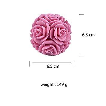 Molde para jabón con forma de bola de rosas, para jabón ...