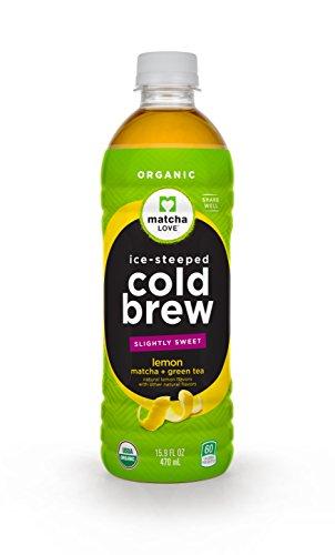 w Slightly Sweet Lemon Matcha Plus Green Tea, 15.9 Ounce Bottle (Pack of 12), Cane-Sugar Sweetened, No Artificial Sweeteners, USDA Certified Organic, Caffeinated (Energy Drink Energizing Lemon Tea)