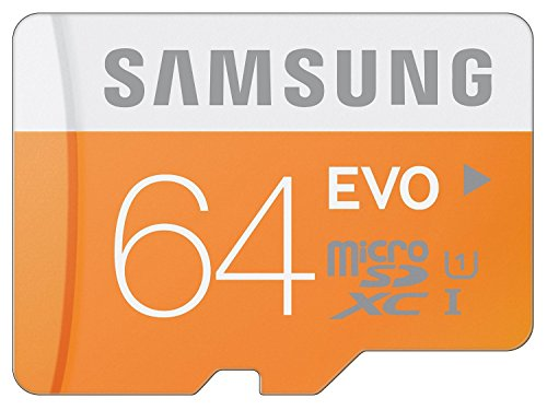 Samsung 64GB EVO Class 10 Micro SDXC up to 48MBs with Adapter (MB-MP64DAAM)