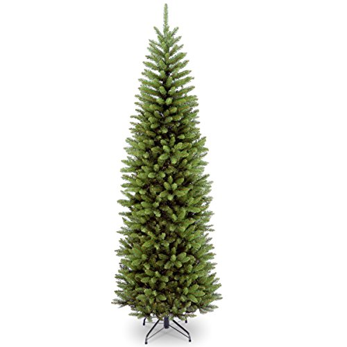 National Tree 9 Foot Kingswood Fir Pencil Tree (KW7-500-90) (9 Clearance Tree Lit Christmas Ft Pre)