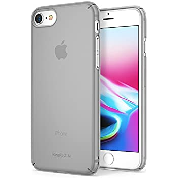 Ringke [SLIM] Apple iPhone 7 / iPhone 8 Case Snug-Fit Slender [Tailored Cutouts] Extreme Lightweight & Thin Superior Coating PC Hard Skin Cover - Frost Gray