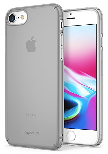 Ringke Slim Compatible with Apple iPhone 7, iPhone 8 Phone Case, Snug-Fit Slender [Tailored Cutouts] Thin Scratch Resistant Dual Coating Light Superior Coating PC Cover - Frost Gray