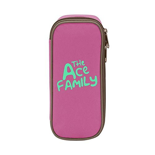y Canvas Pen Box Multi-Colored for Kids Print Ace Family Pink ()