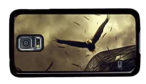 Hipster unique Samsung Galaxy S5 Case Bald Eagle Art PC Black for Samsung S5 by lolosakes