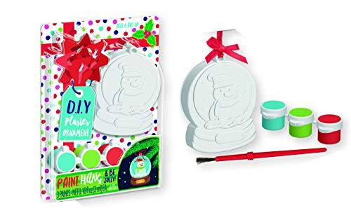 Christmas Tree Ornament Decorating Kit Paint Your Own Kids Children Xmas Arts Craft Activity Game, Holiday Toy DIY Ornament Maker Keepsake (Snowman)