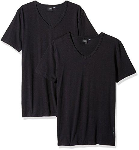 Hugo Boss Boss Men's T-Shirt VN 2p CO/EL 10194356 01, Black, (Boss Black Collection)