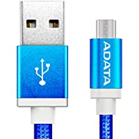ADATA CABDAT130 Cable Micro USB, Color Azul, 1 m