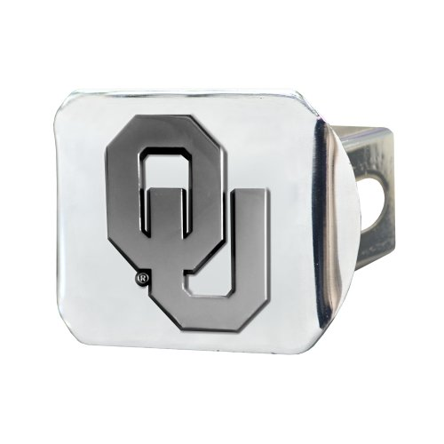 FANMATS NCAA University of Oklahoma Sooners Chrome Hitch Cover by Fanmats