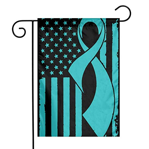Dongingp PCOS Cancer Awareness Flag Garden Flag Decorative Yard Flags for Celebration,Festival,Home,Outdoor,Garden Decorations 12 X 18 Inch