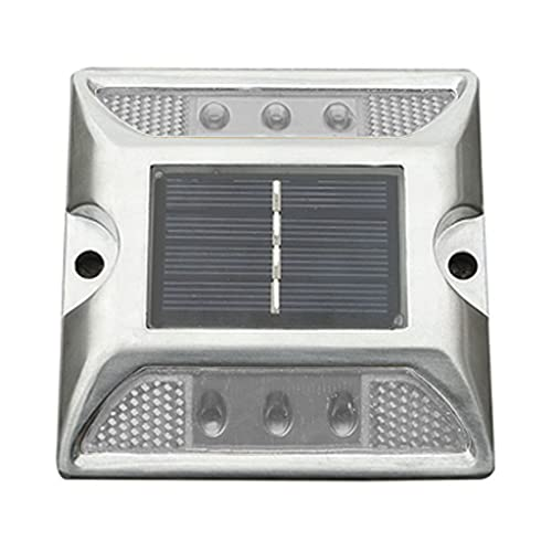 WAHSBAG Solar Road Stud Light,Solar Power Ground Marker Lights Waterdichte Outdoor Oprit Road Stud Lamp voor Deck Trap…
