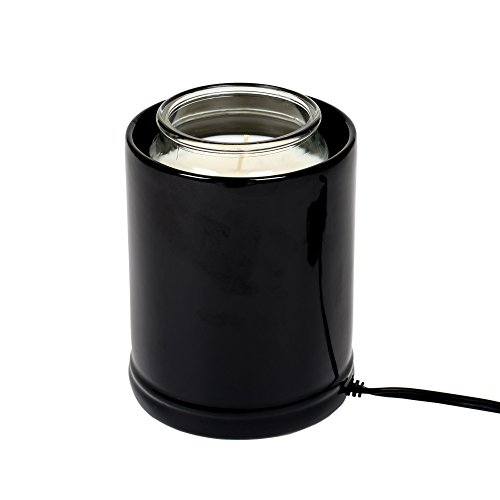 Elanze Designs Glossy Black Ceramic Stoneware Electric Jar C