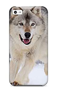 Awesome Design Wolf Running In The Snow Hard Case Cover For Iphone 5c