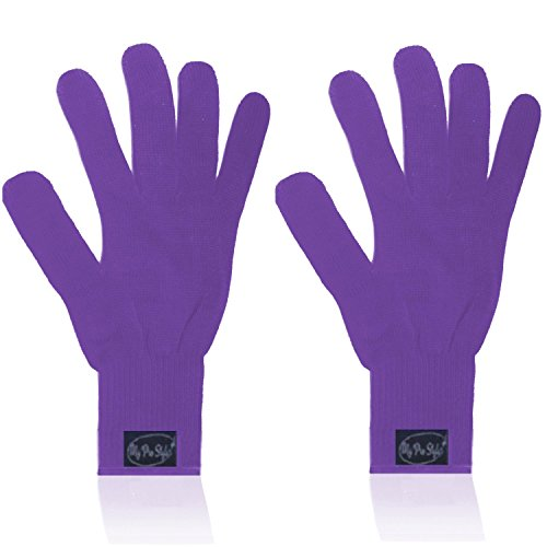 Dryer Spare Parts ((PAIR) 2 X PURPLE - Professional Heat Resistant Gloves For Curling and Flatting Iron)