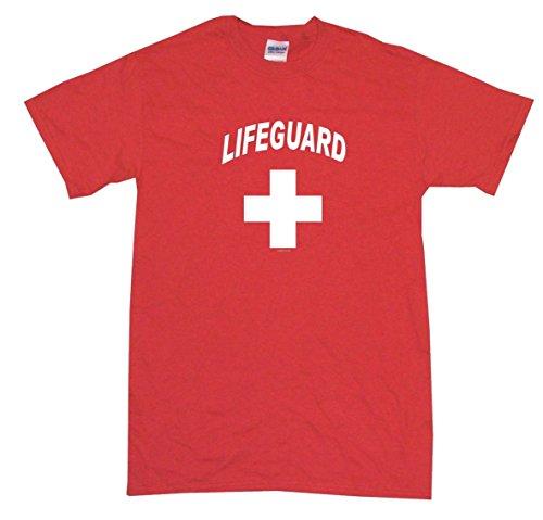 Lifeguard Logo Big Boy's Kids Tee Shirt Youth Large-Red