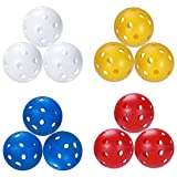 Sprookber Wiffle Plastic Golf Training Balls for Swing Practice, Driving Range, Home Use - 5 inch Circumference