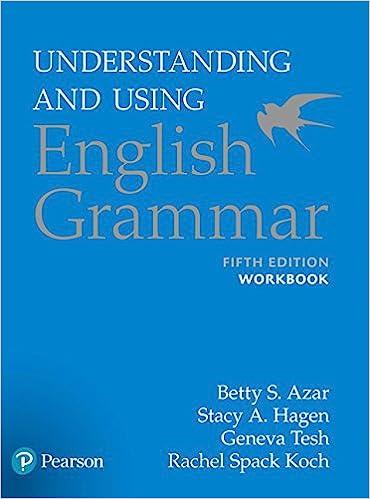 Understanding and using english grammar workbook betty s azar understanding and using english grammar workbook betty s azar stacy a hagen 9780134275444 amazon books fandeluxe Gallery