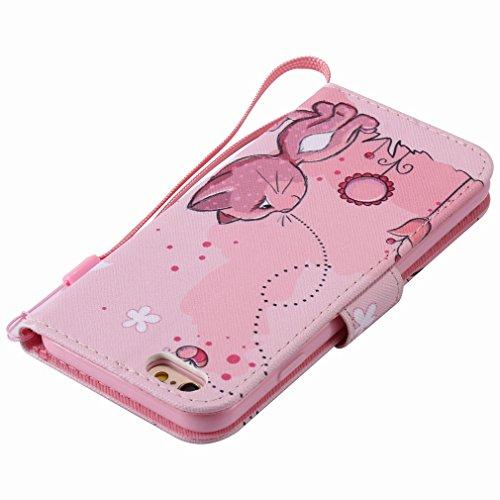 Yiizy Apple IPhone 6 IPhone 6s Funda, Coño De Color Rosa Diseño Solapa Flip Billetera Carcasa Tapa Estuches Premium PU Cuero Cover Cáscara Bumper Protector Slim Piel Shell Case Stand Ranura para Tarje