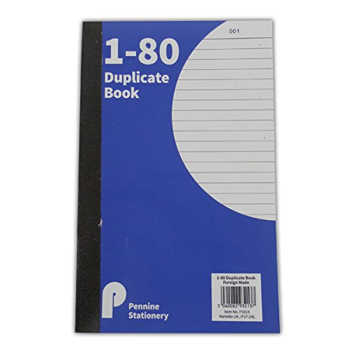 Duplicate Book - 1 to 80 Numbered Pages – Ruled - Size 205mm x 128mm Martello