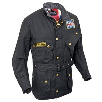 2bbe820d94a4 Barbour Union jack INTERNATIONAL Jacket black XL  Amazon.co.uk  Clothing