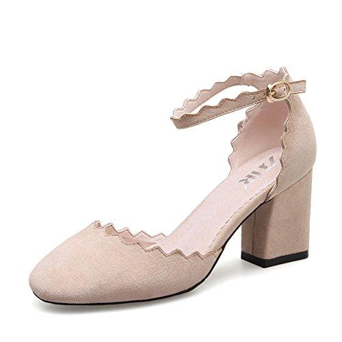 Minces Casual B Boucle Epais De Coupe Shoes Une De Womens Chaussures Shoes Avec bas Style Femelle Talons British xwYwZqUf